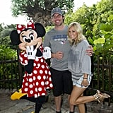The couple met up with Minnie Mouse in Florida in July 2012.