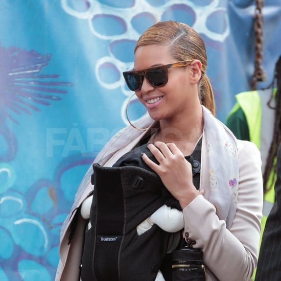 Beyoncé proves it's hip to be square in her tortoiseshell frames.