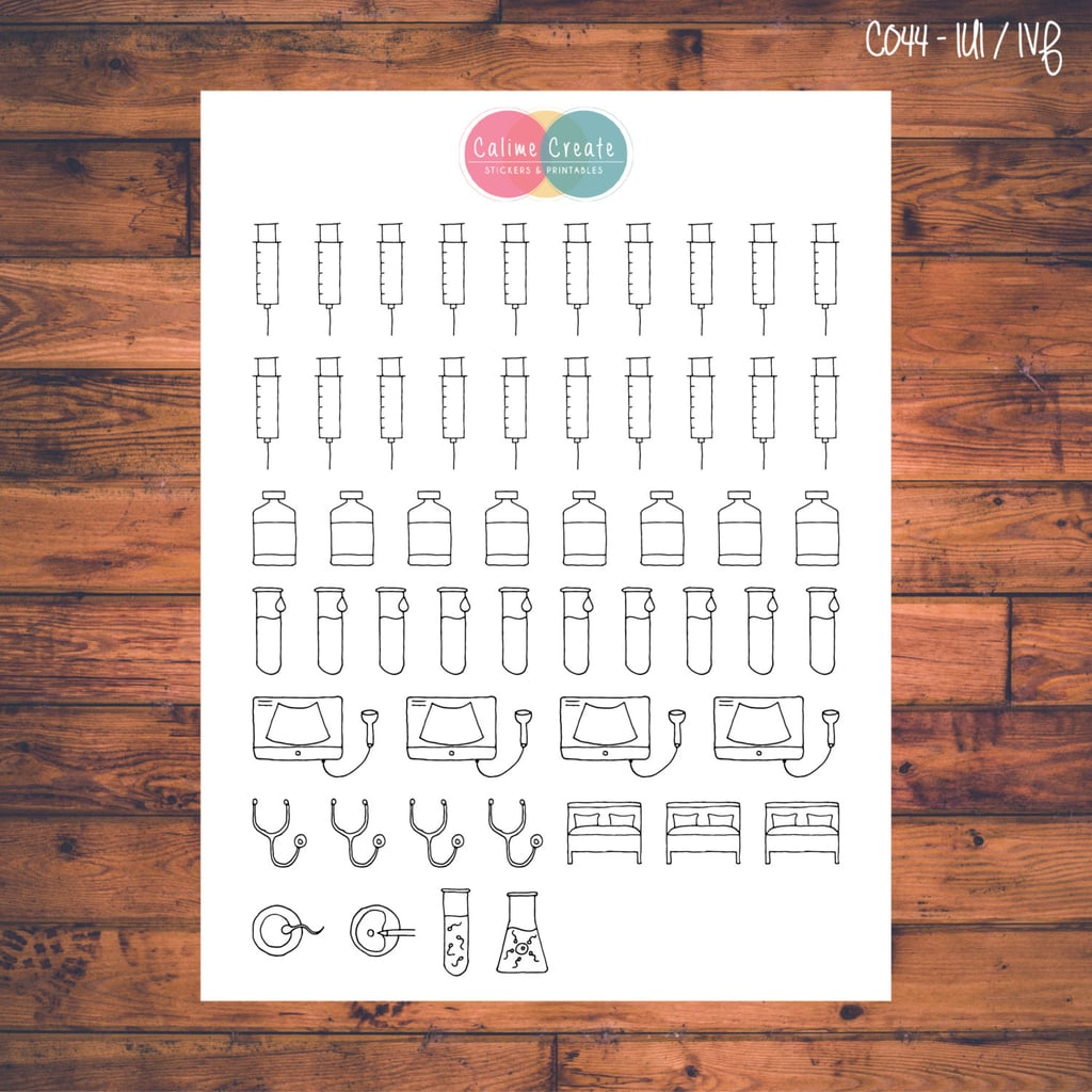 Fertility Calendar Stickers