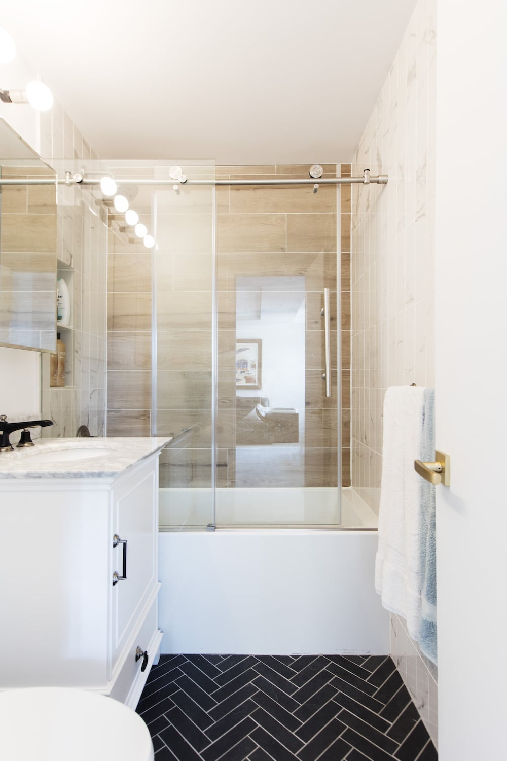 Small Bathroom Remodels Before And After Popsugar Smart Living
