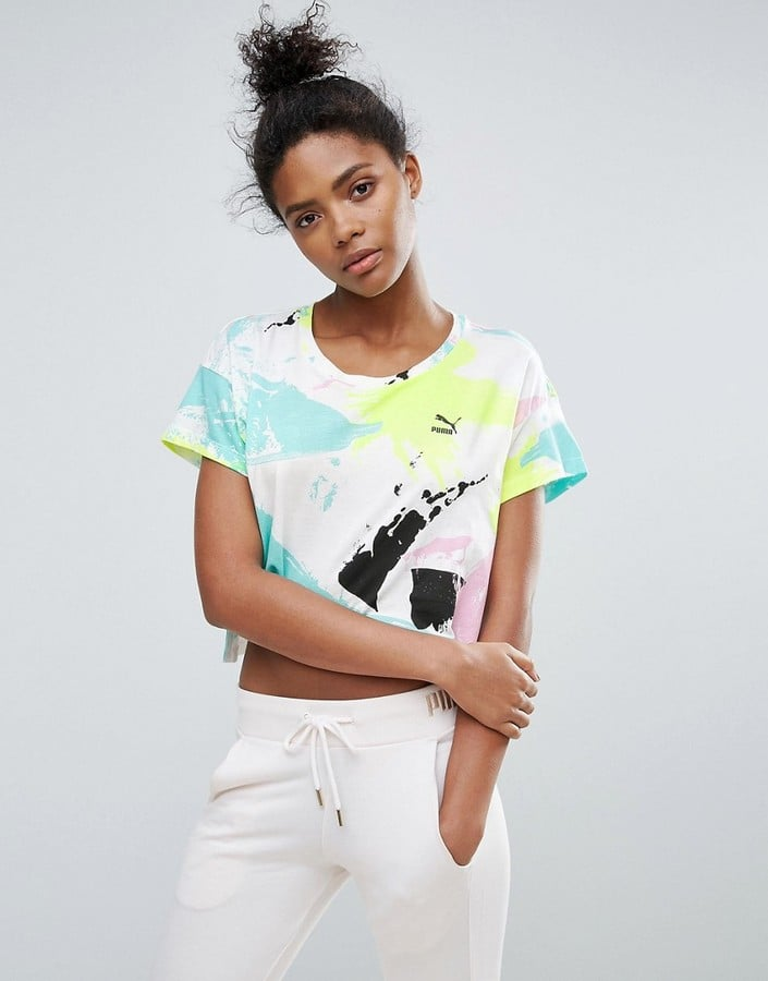 Puma Archive Logo Cropped T-Shirt