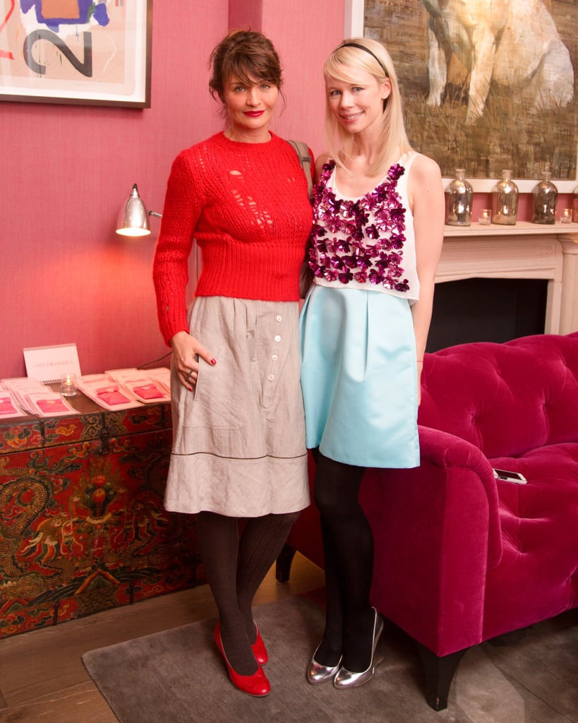 Helena Christensen and Erin Fetherston at the JewelMint launch of Fetherston's collection.