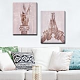 Peace and Namaste Two-Piece Canvas Wall Art
