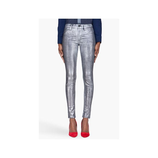For the Christmas parties that are a little more low-key, these metallic jeans will be perfect. I'll add impossibly high stilettos, a lace bralet, sheer black shirt and red lips! — Alison, BellaSugar editor Jeans, approx $168, J Brand at SSENSE