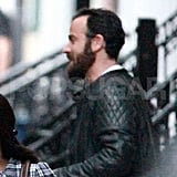 Jennifer Aniston and Justin Theroux pictured together in New York.