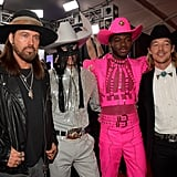 Billy Ray Cyrus, Orville Pack, Lil Nas X, and Diplo at the 2020 Grammys