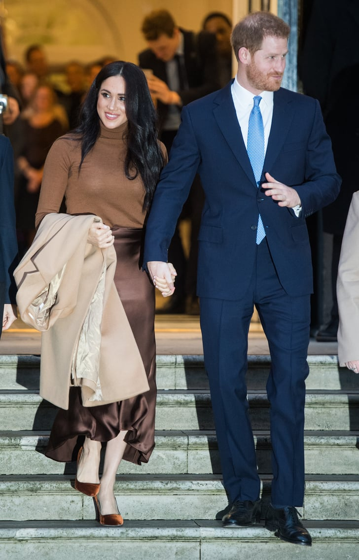 meghan markle s tonal brown look at canada house 2020 popsugar fashion tonal brown look at canada house 2020