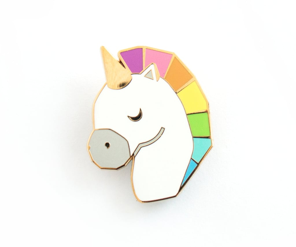 Rainbow Unicorn Pin ($13)