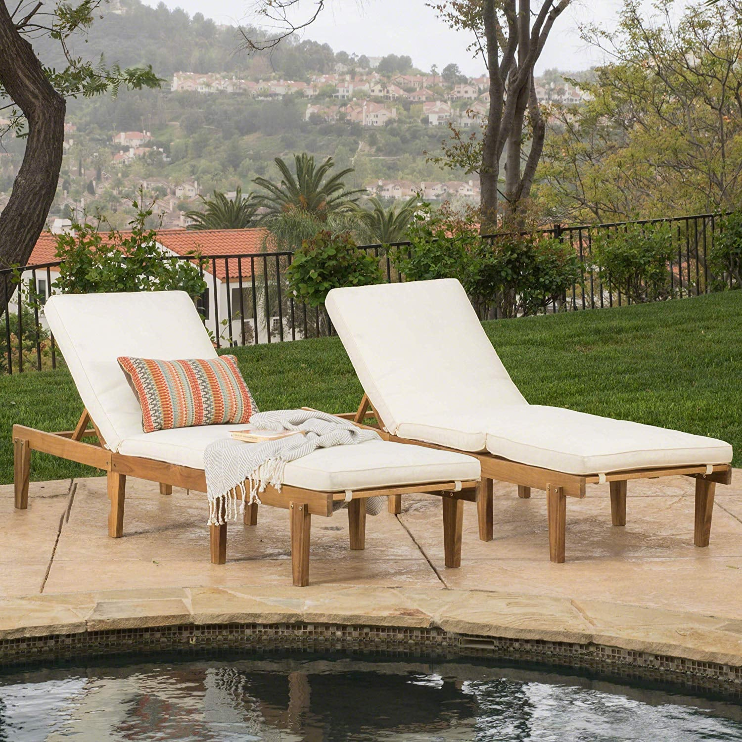 Picture of: Teak Chaise Lounge Chairs With Cushions Best Outdoor Furniture From Amazon Popsugar Home Uk Photo 10