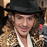 The man of the night: John Galliano always makes a fabulous style statement.