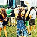 "POPSUGAR Beauty's editor Lauren Levinson couldn't help but get a little carried away when Lorde sang her hit ""Royals."" Source: Instagram user laurenlevinson"