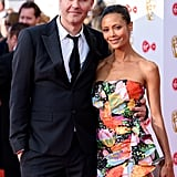 Thandie Newton and Ol Parker at the TV BAFTAs, 2018