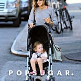 Sarah Jessica Parker took her twins for a walk in NYC.
