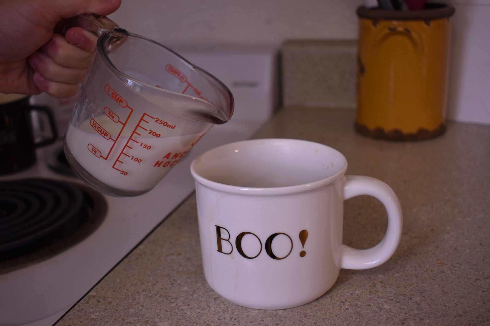 Pour Milk Into Coffee