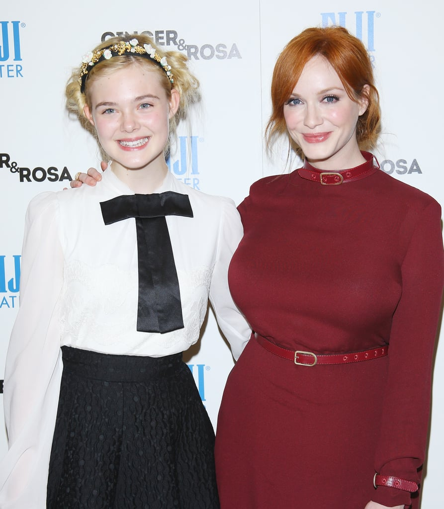 Elle Fanning and Christina Hendricks got together for a picture.
