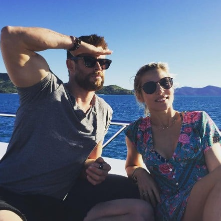 Chris Hemsworth Instagram About Wife October 2016