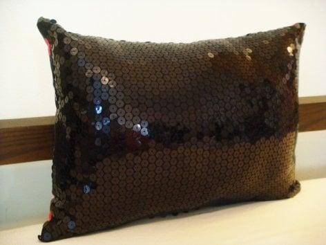 Ultra Shine Black Sequin Pillow ($49)