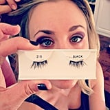 Kaley Cuoco got her photo snapped while getting her makeup done. Source: Instagram user normancook