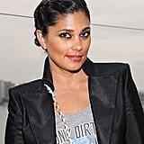Designer Rachel Roy was out in New York City at a Missoni event with her hair braided into a chic updo. She kept her makeup fierce with smudged black eyeliner and a berry lip color.