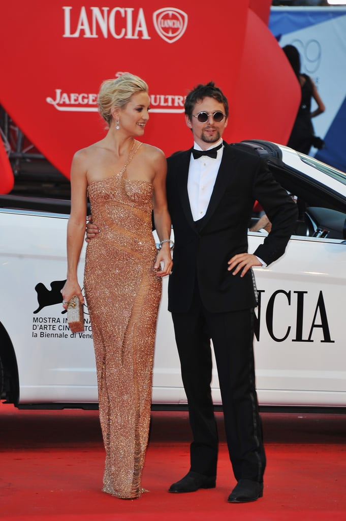 Kate Hudson and Matthew Bellamy arrived at the premiere of The Reluctant Fundamentalist.