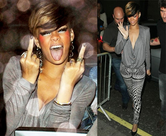 Pictures of Rihanna Out Clubbing in London
