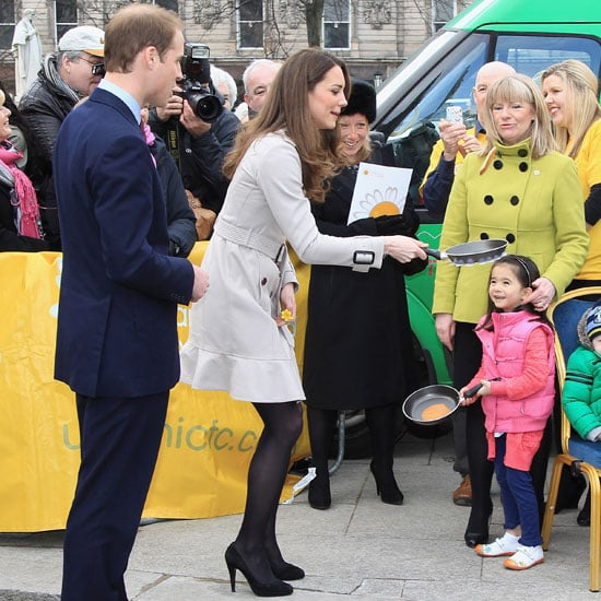 Pictures of Kate Middleton and Prince William Tossing Pancakes in Belfast on Visit to Northern Ireland