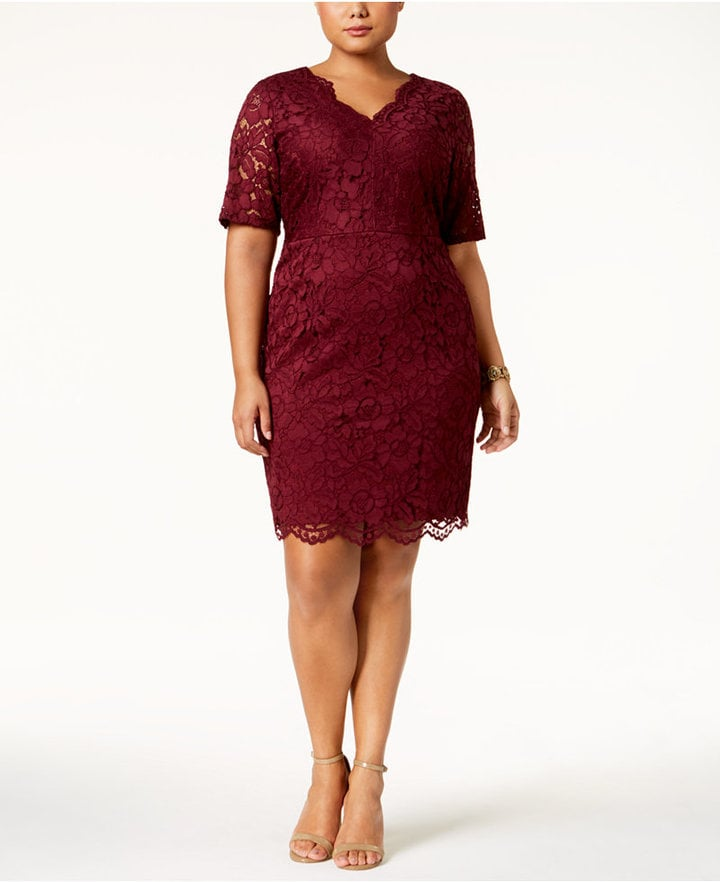 8cdc96b0 Ellen Tracy Lace Sheath Dress | Plus-Size Holiday Dresses | POPSUGAR ...