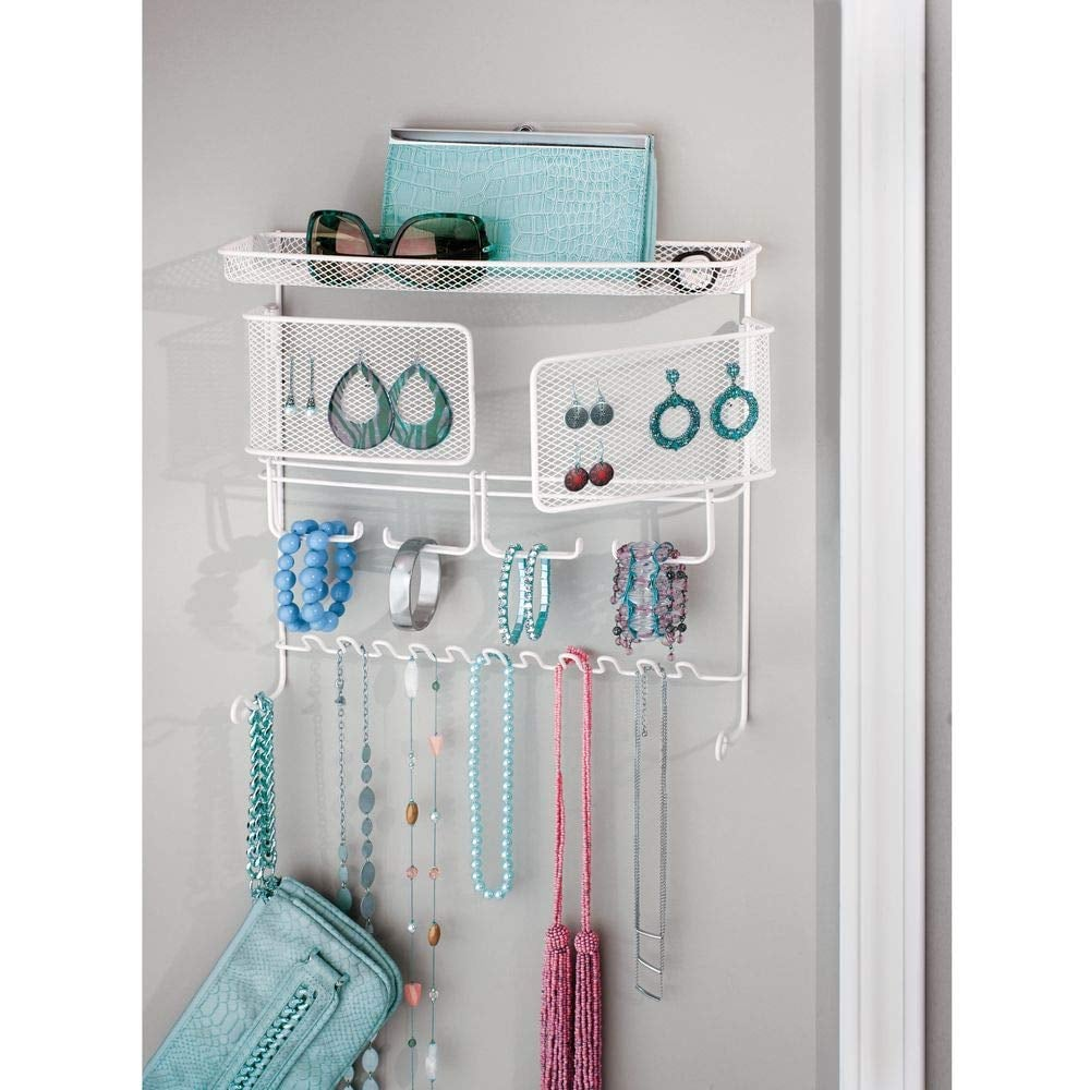 mDesign Decorative Metal Closet Wall Mount