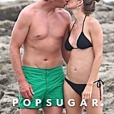 They smooched on the beach in Costa Rica in July 2018.
