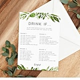 Bridal Shower Printable Drinking Game