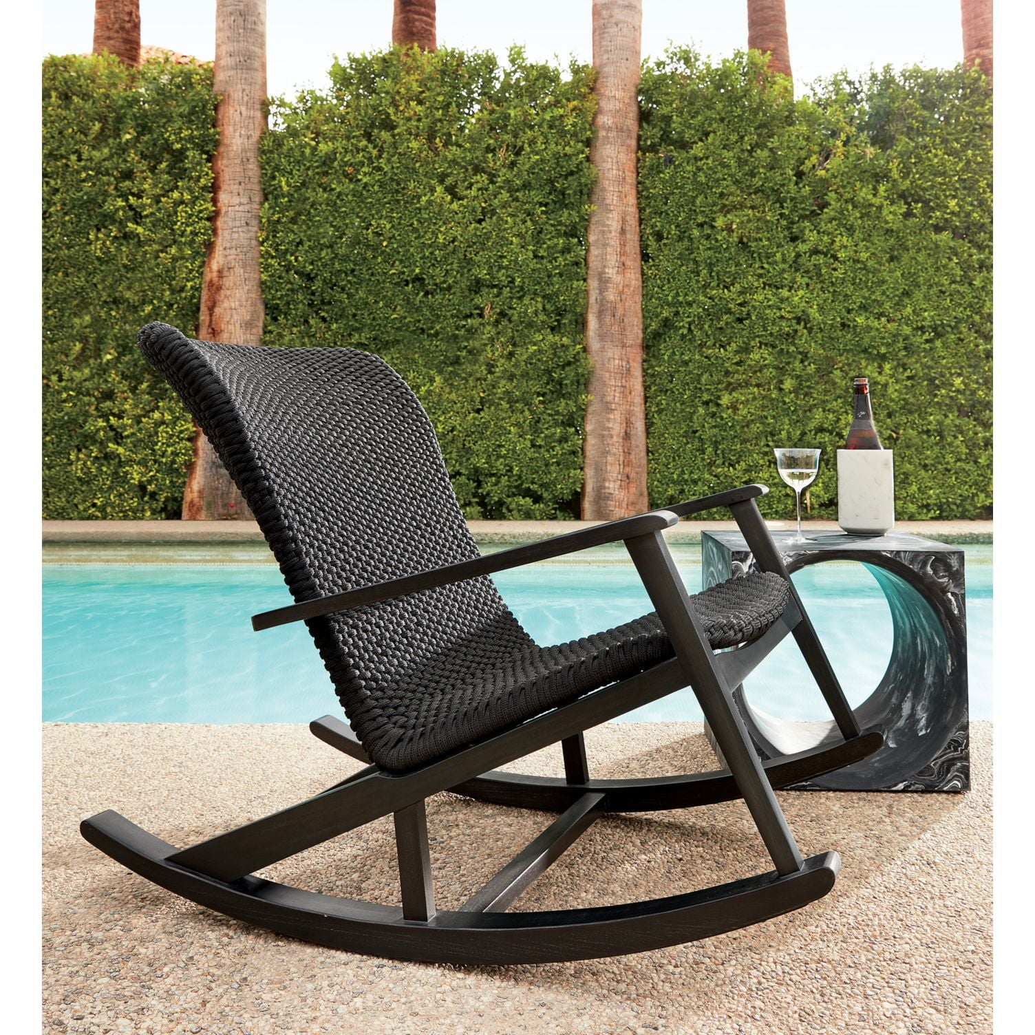Viareggio Outdoor Rocking Chair  Give Your Backyard a Midcentury