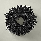 Black Halloween Pinecone Wreath