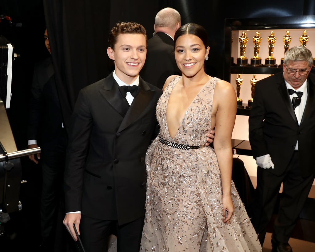 Pictured: Tom Holland and Gina Rodriguez