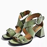 Topshop Dara Sage Studded Sandals
