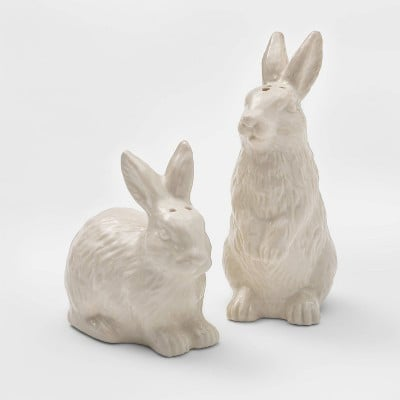 Stoneware Bunny Salt and Pepper Shaker Set White