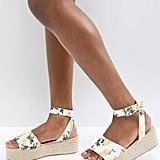 ASOS Thear Espadrille Flatform Sandals