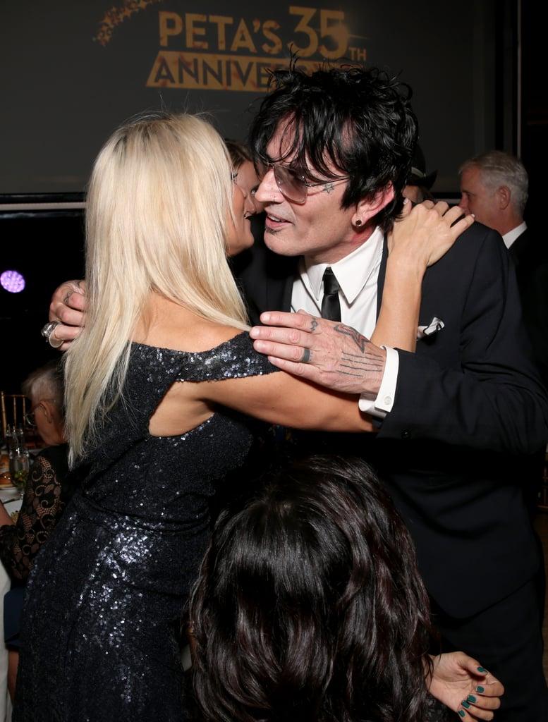Pamela anderson tommy lee wedding bands - Pamela Anderson And Tommy Lee At Peta Party Pictures Popsugar Celebrity
