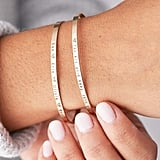 Delicate Thin Personalized Cuff