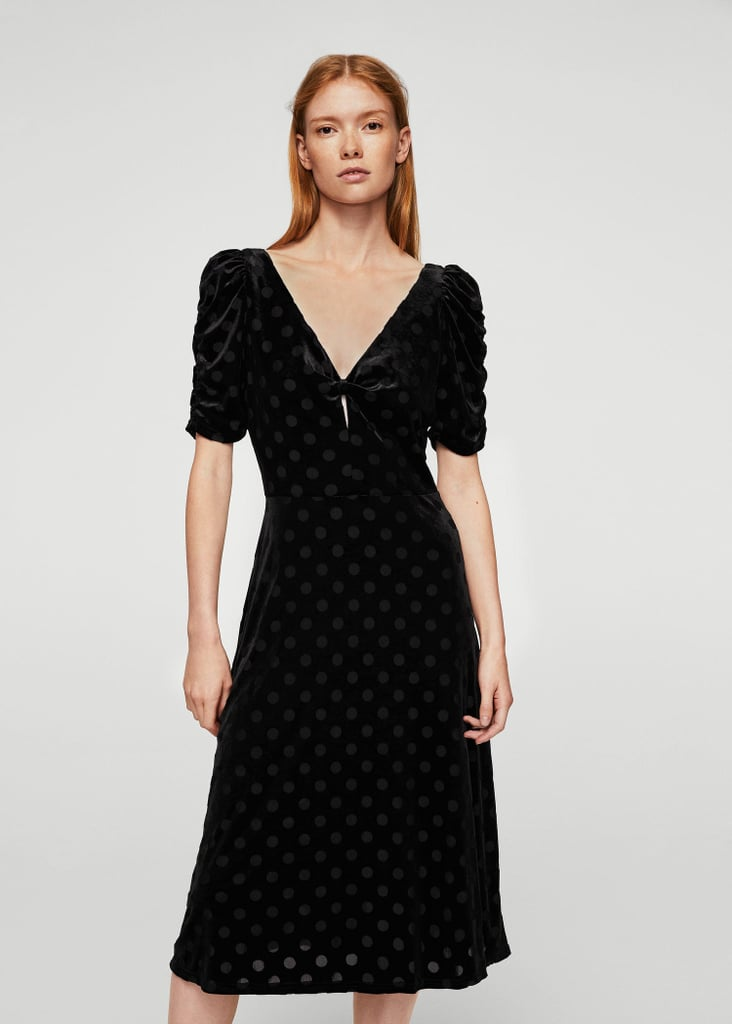 Mango Polka Dots Velvet Dress (£50)