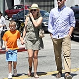 Reese Witherspoon out in LA with Jim Toth and Deacon Phillippe.