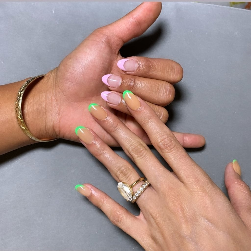 Celebrity French Manicure Trend To Try In 2020 Popsugar Beauty Uk