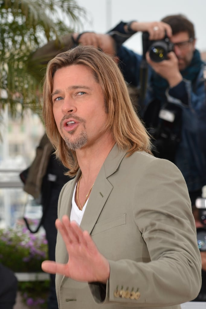 Brad Pitt Brings a Bit of Sun to Rainy Cannes