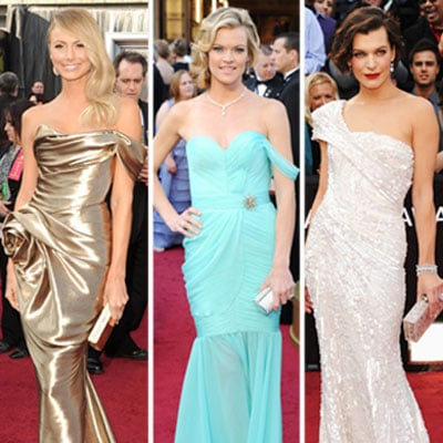Celebrities Wearing Off-the-Shoulder Dresses at Oscars 2012