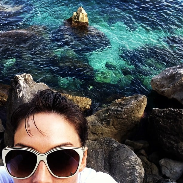 Whitney Cummings snapped a photo of her view in Italy — as well as her oversize sunglasses. Source: Instagram user whitneyacummings