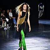 A Dress Styled Over Green Pants From the Rag & Bone Runway at New York Fashion Week