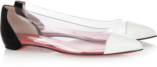 The PVC and white caps ensure that you'll be perfectly on-trend in these Christian Louboutin Corbeau flats ($595).