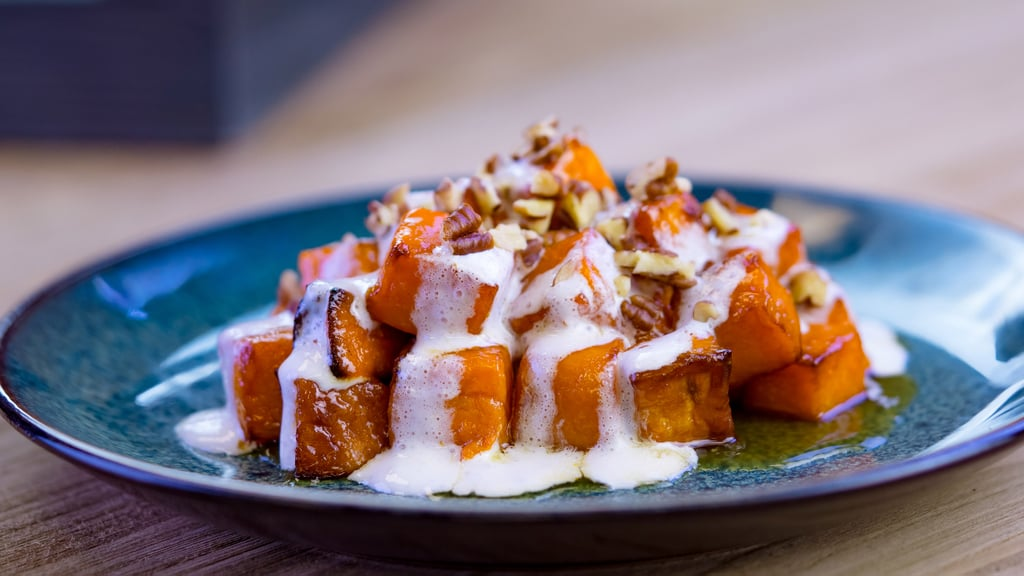 Candied Yams With Marshmallow Cream and Toasted Pecans