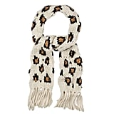 Warehouse Knitted Leopard Scarf