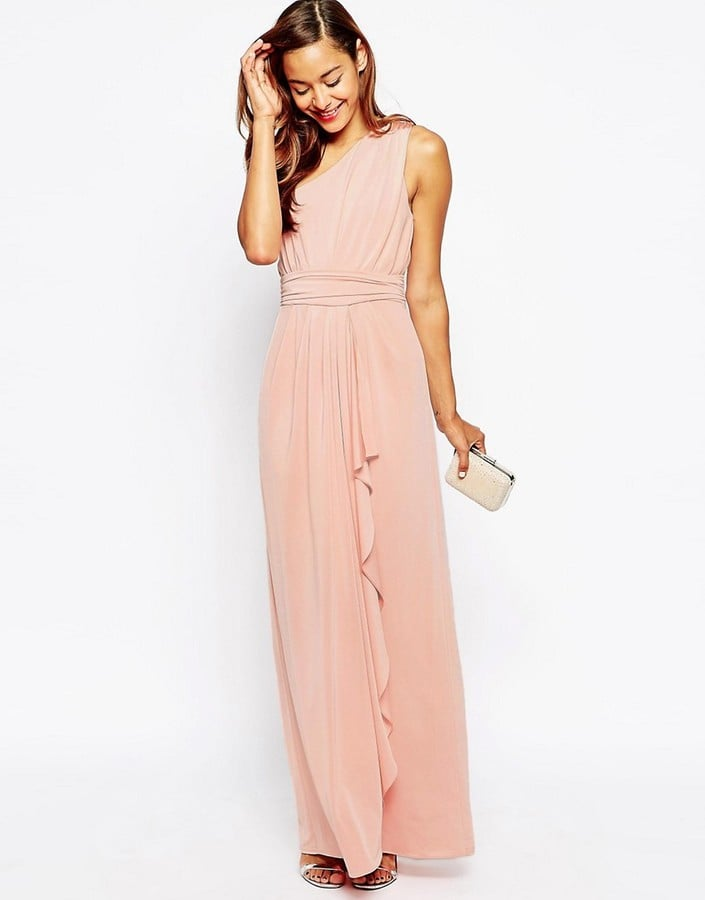 1a7f4455cfeb ASOS One Shoulder Sexy Slinky Maxi Dress (£22) | Bridesmaid Dresses ...