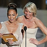 Jennifer Lopez and Cameron Diaz presented an award together at the 2012 Oscars.